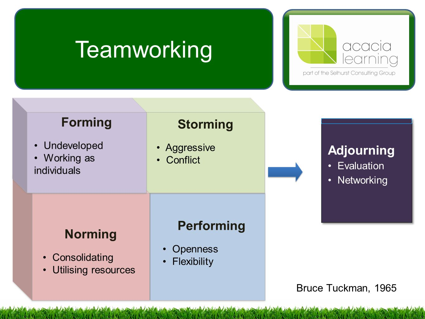 teamwork case study tuckman A case study of the adaptation of a team building model using action learning by calvin w edwards submitted.
