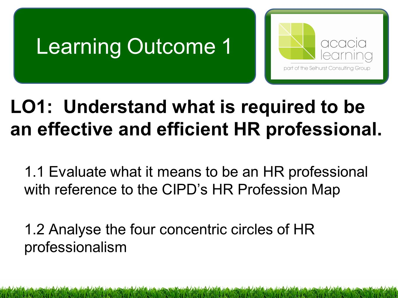 Reflect on the four concentric circles of hr professionalism essay