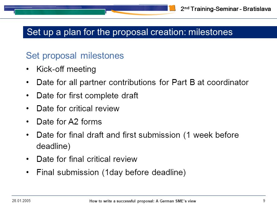 How To Write A Successful Proposal Ppt Download