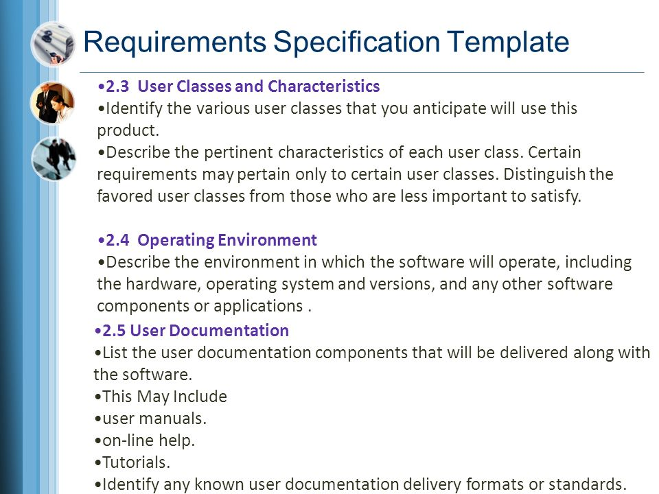 Chapter 10 documenting the requirements ppt video online download requirements specification template pronofoot35fo Image collections