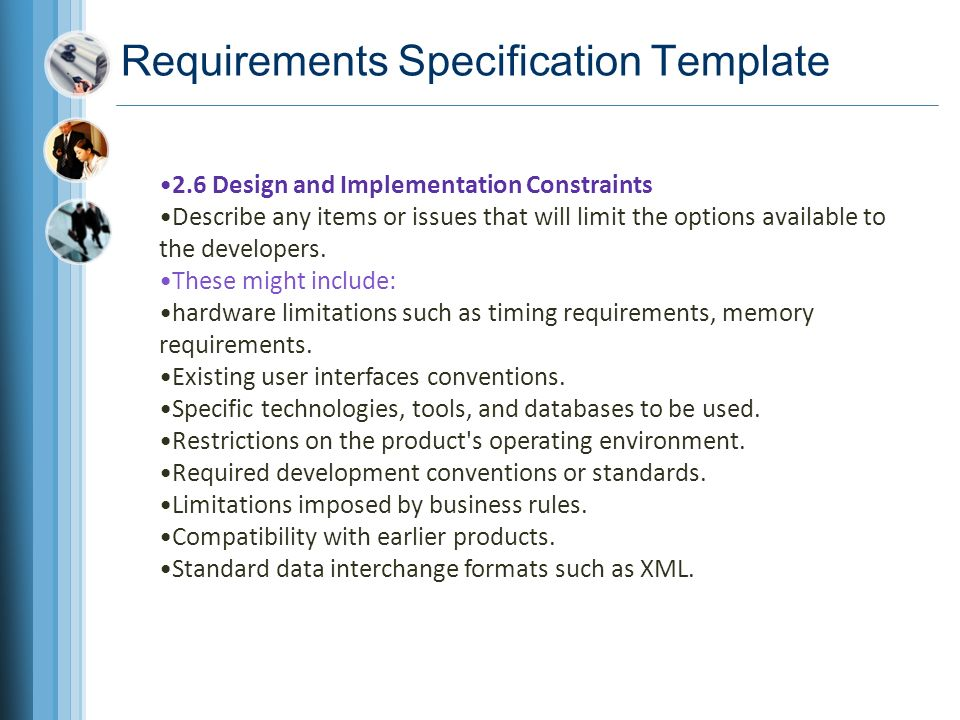 Chapter 10 documenting the requirements ppt video online download requirements specification template wajeb Images