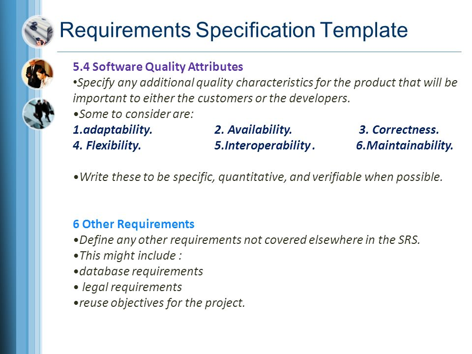 requirements define any other requirements not covered elsewhere in