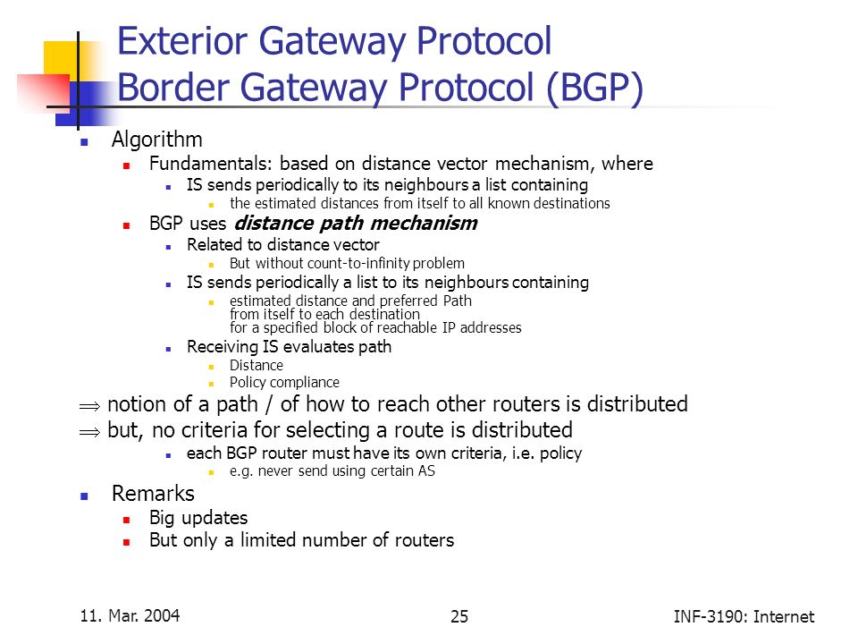Exterior Gateway Protocol Oloom