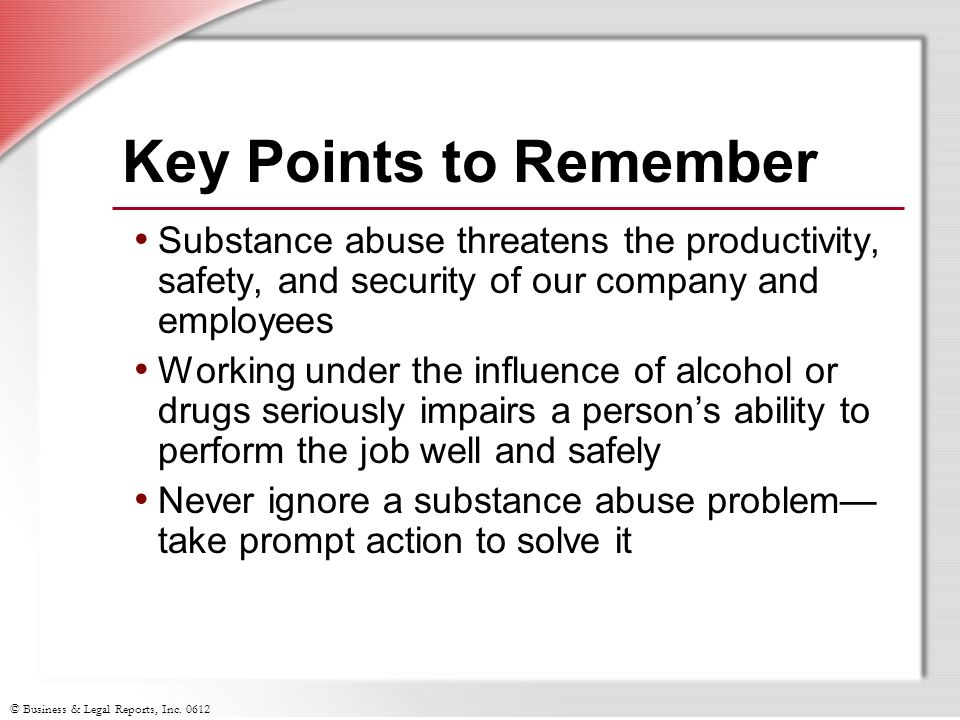 essay on substance abuse in the workplace If you are looking for a topic on which to write your drug abuse essay and the consequences of drugs, then review the topics below: the size of substance misuse and limitations on data for substance abuse different trends relating to drug use and how it has changed over time.