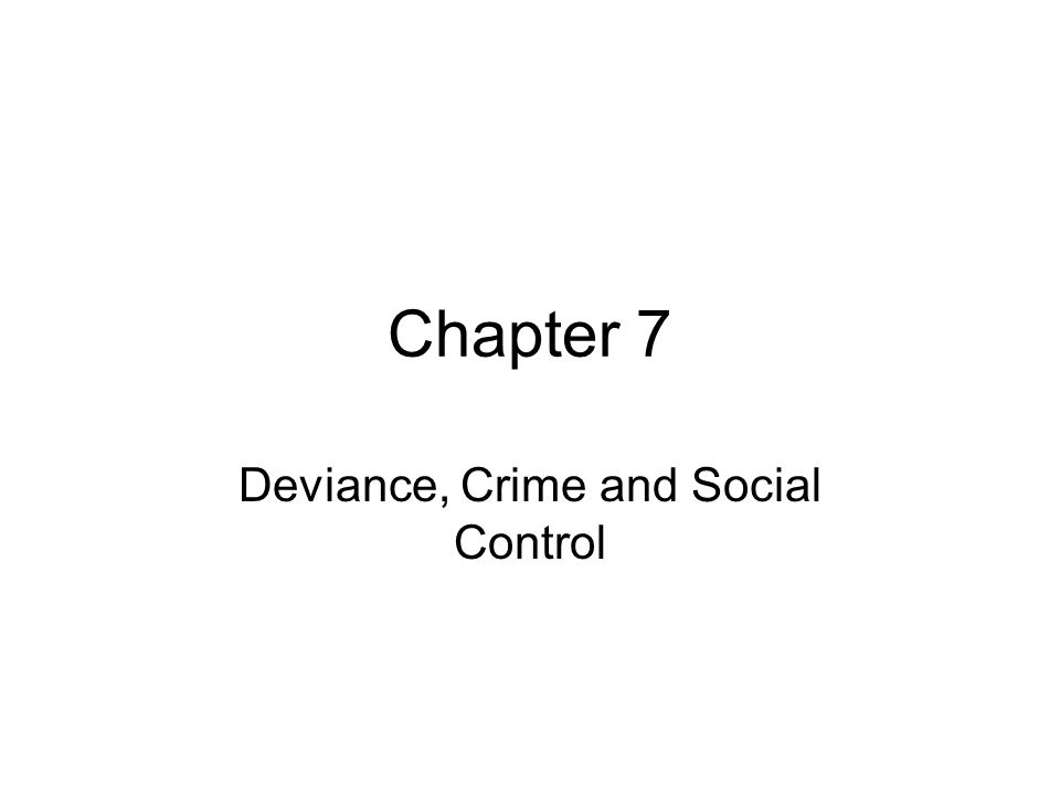 deviance crime and social control Part of the social control, law, crime, and deviance commons, and the social  work commons this book note is brought to you for free and open access by.