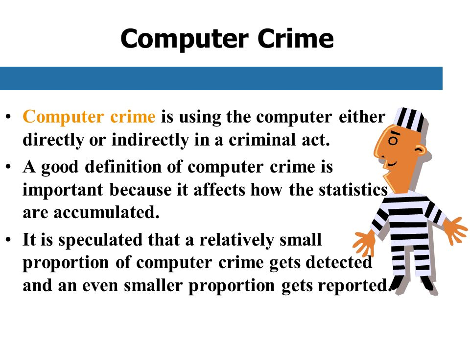 computer abuse and the crimes on the internet The 12 types of cyber crime there are literally a dozen ways in which a  cybercrime can be perpretrated, and you need to know what they are in order to .