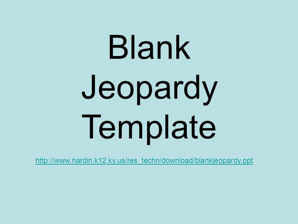 Doc15001159 Blank Jeopardy Template Free Jeopardy Template – Blank Jeopardy Template
