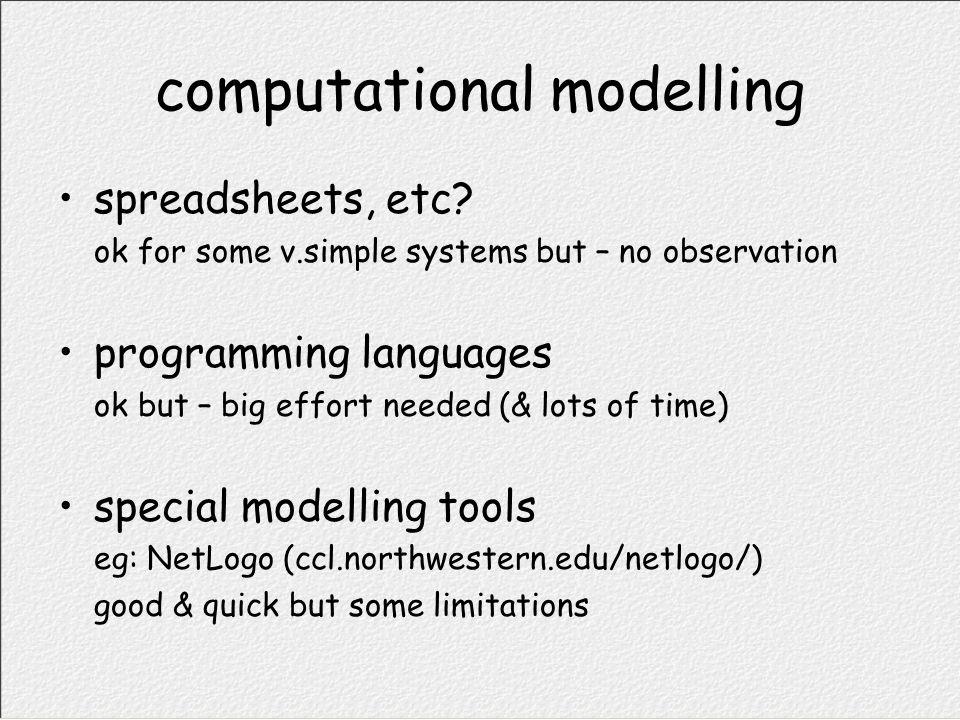 computational modelling