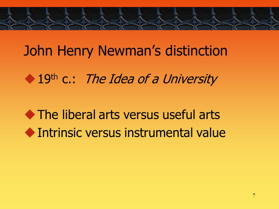 Idea of a University by John Henry Newman: Is This Still