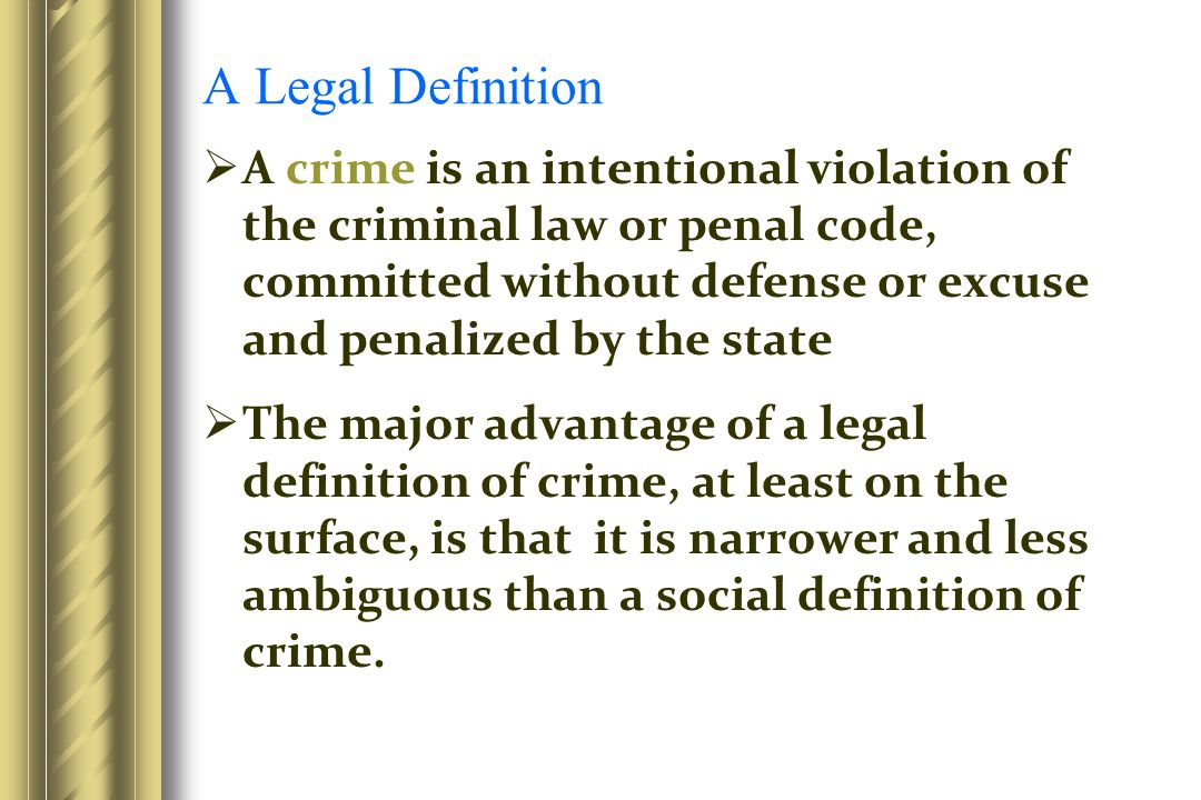 how society defines crime