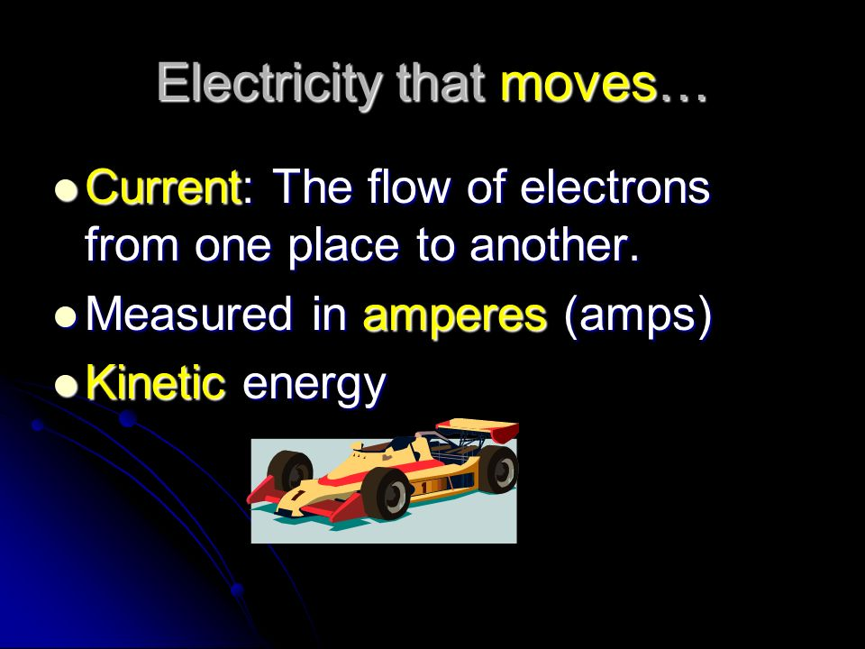 Electricity that moves…