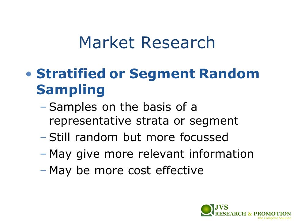 random sampling in research Simple random spatial sampling can be effective in cases such as the one  described in this study, where the size of target population and.