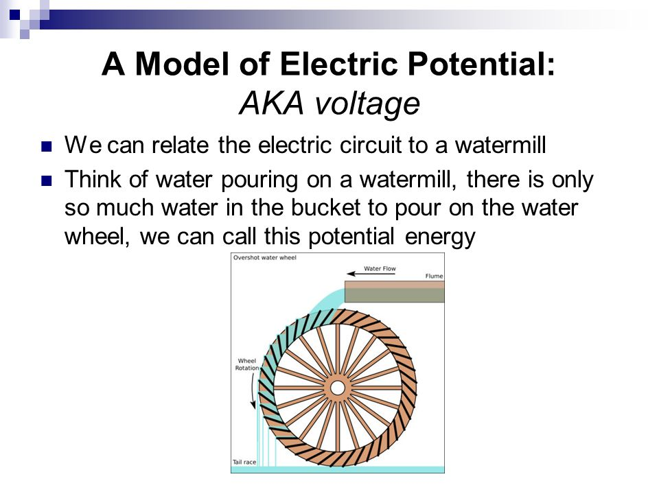A Model of Electric Potential: AKA voltage