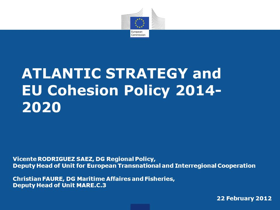 ATLANTIC STRATEGY and EU Cohesion Policy