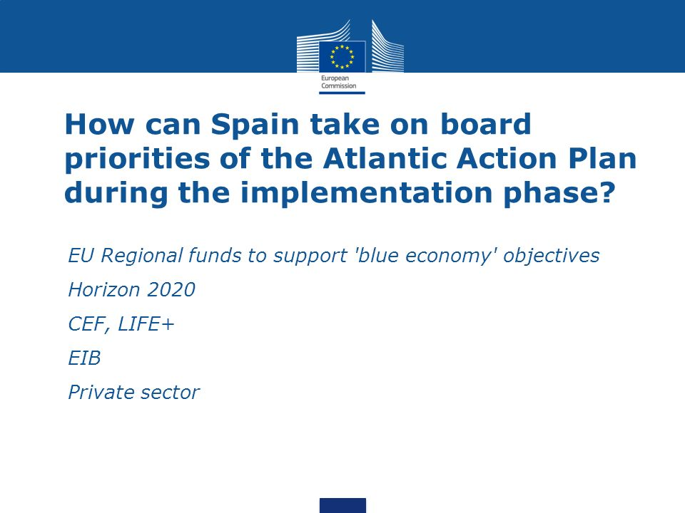 How can Spain take on board priorities of the Atlantic Action Plan during the implementation phase