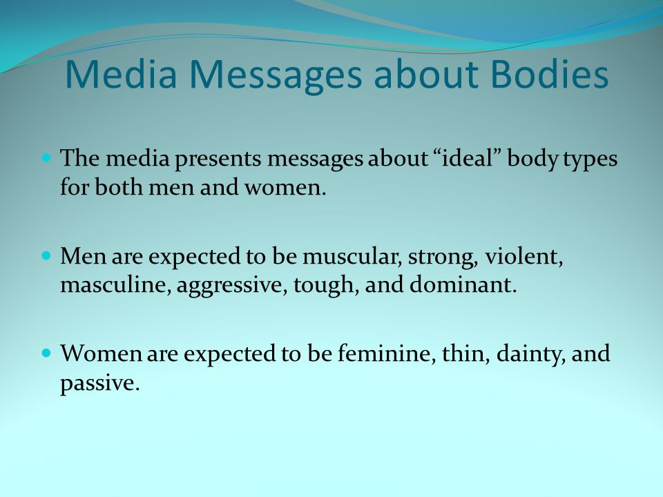 Media Messages about Bodies