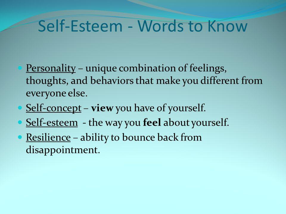Self-Esteem - Words to Know