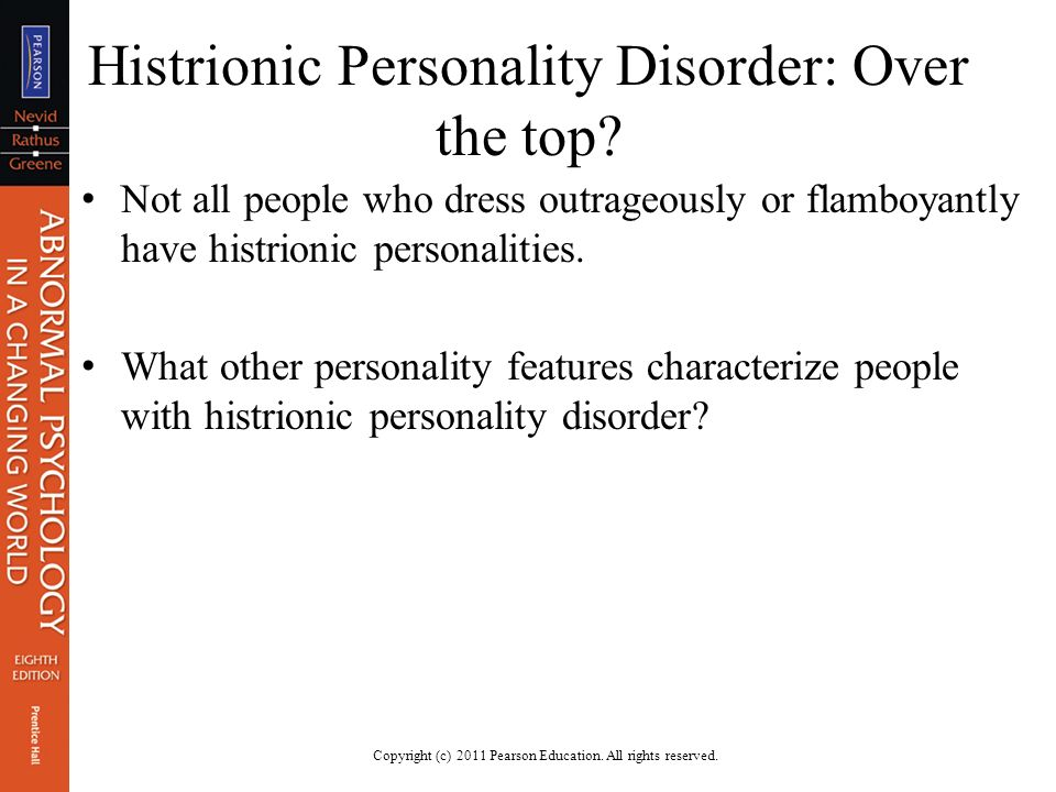 dating someone with histrionic