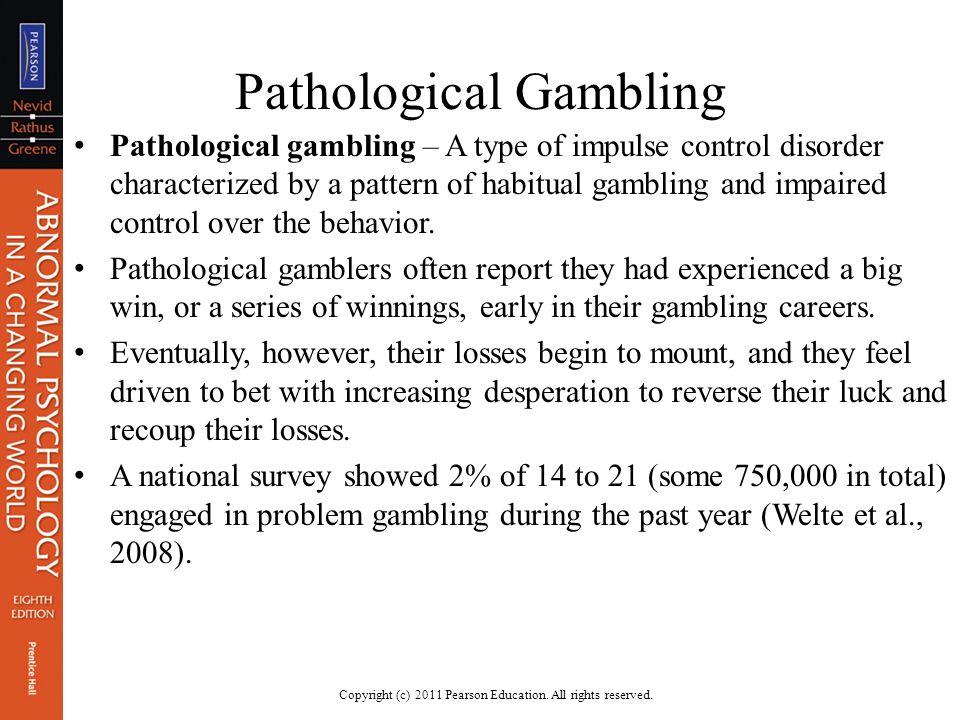 Pathological gambling disorder treatment