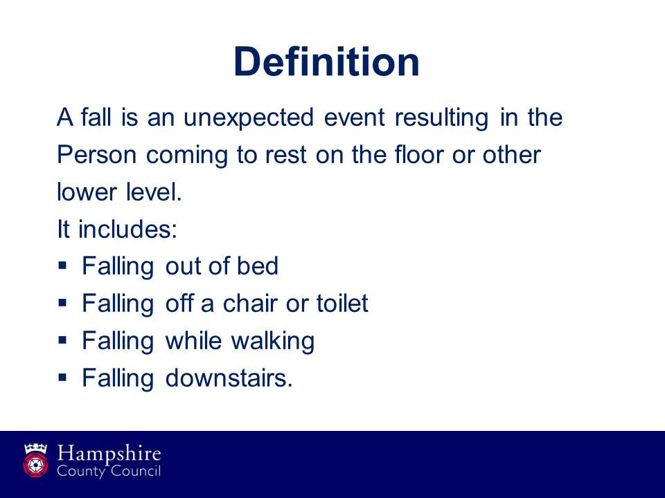 Falls prevention in care homes ppt download for Floor action definition