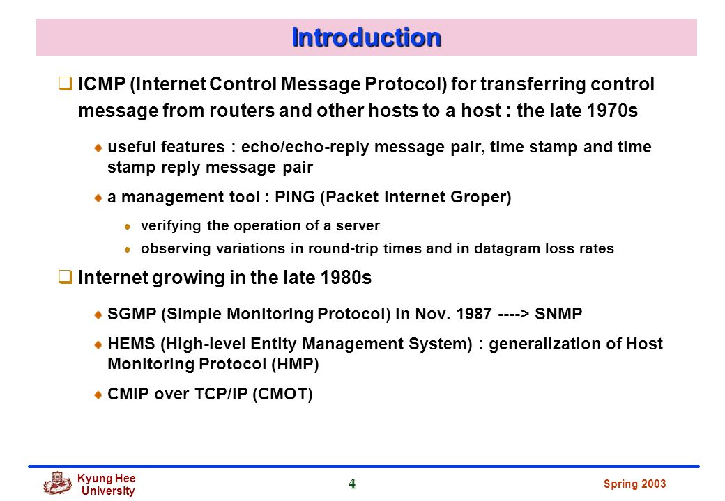 A comparison of the network managements cmip and snmp