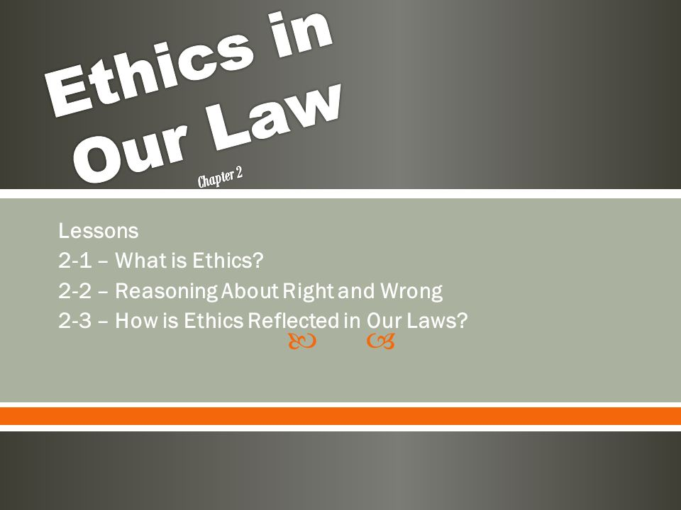 what lessons in ethics did social