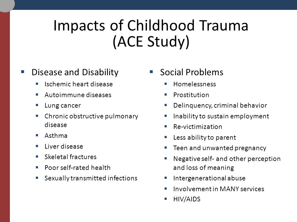 childhood trauma and the impact of