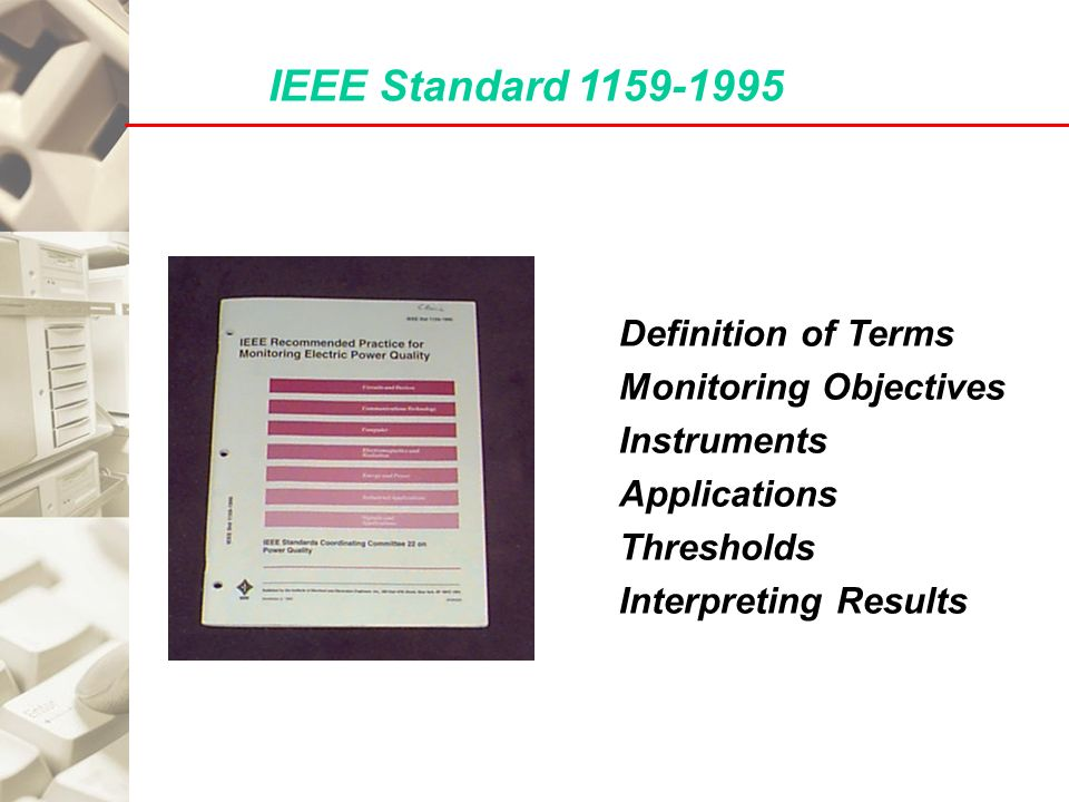 Power quality fundamentals and monitoring ppt video for Ieee definition