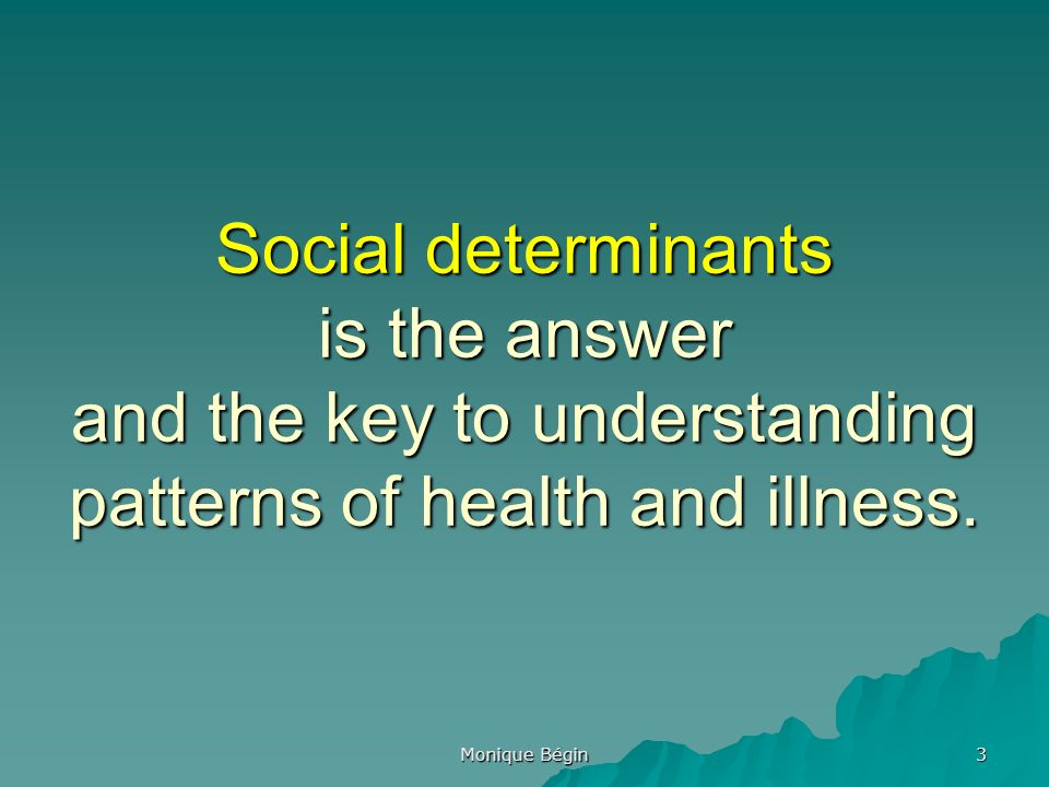 social class is still the determinant The aihw analysed data from the 2004–05 health survey and found that  selected social determinants such as education, employment status,  overcrowding and.