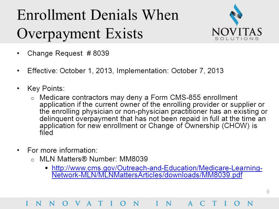 Novitas Solutions 2014 Medicare Update - ppt download