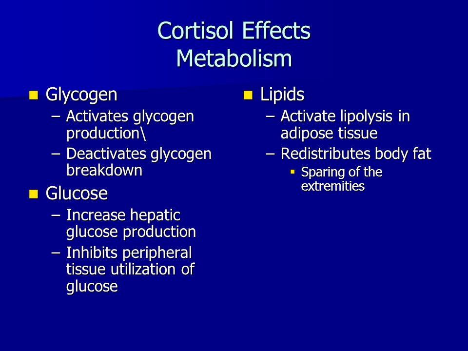 Cortisol Effects Metabolism