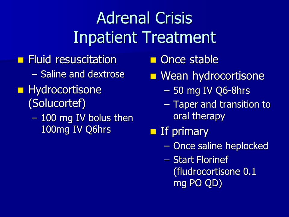 steroid taper adrenal insufficiency