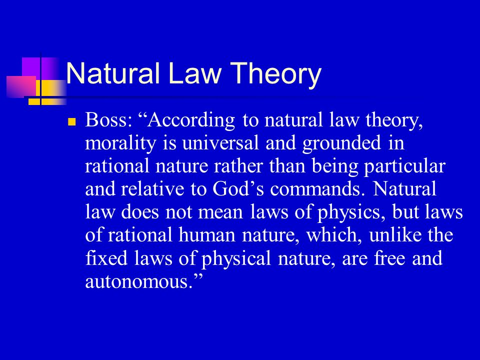 What Are The Fixed Laws Of Human Nature