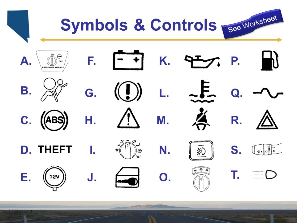 Control Devices Instruments ppt download – Drivers Ed Worksheets