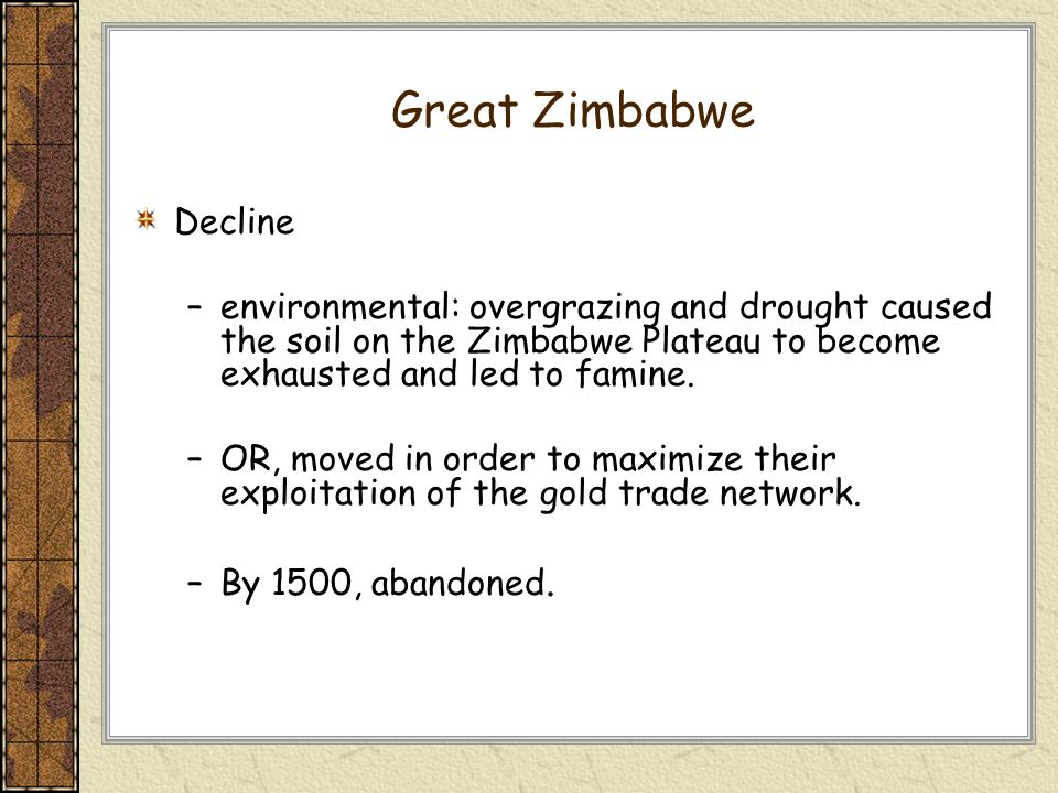 a research on the trade development in gotland and great zimbabwe Zimbabwe essay, research paper economic development in zimbabwe description: pretty much self explanatory this paper discusses the economicdevelopment in the country if zimbabwe detailing the countries economicsuccesses and reasons for them economic development in zimbabwe the country of.