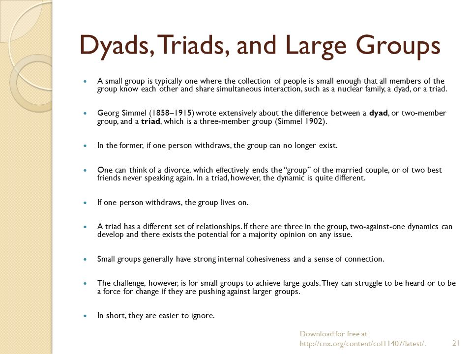 dyad and triad relationship stories