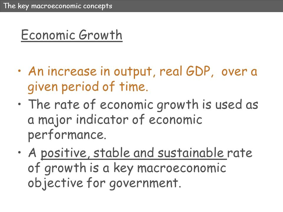 An increase in output, real GDP, over a given period of time.