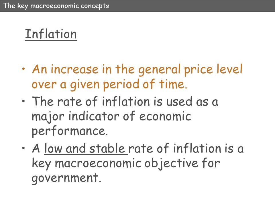 An increase in the general price level over a given period of time.