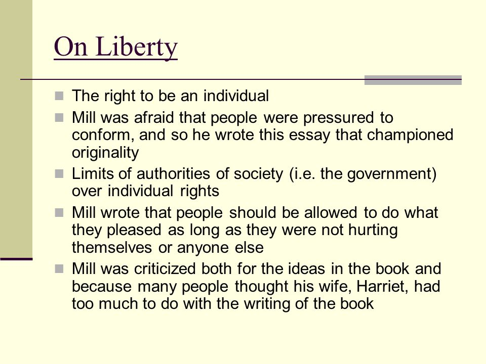 jeremy bentham and john stuart mill ppt video online  on liberty the right to be an individual