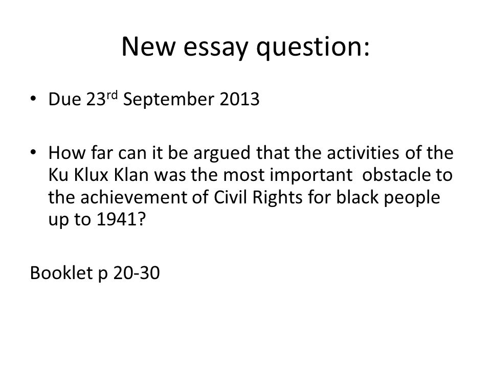 black civil rights essay A list of unique argumentative essay topics on civil rights anything that touches on civil rights will always be treated with some kind of trepidation from time to time.