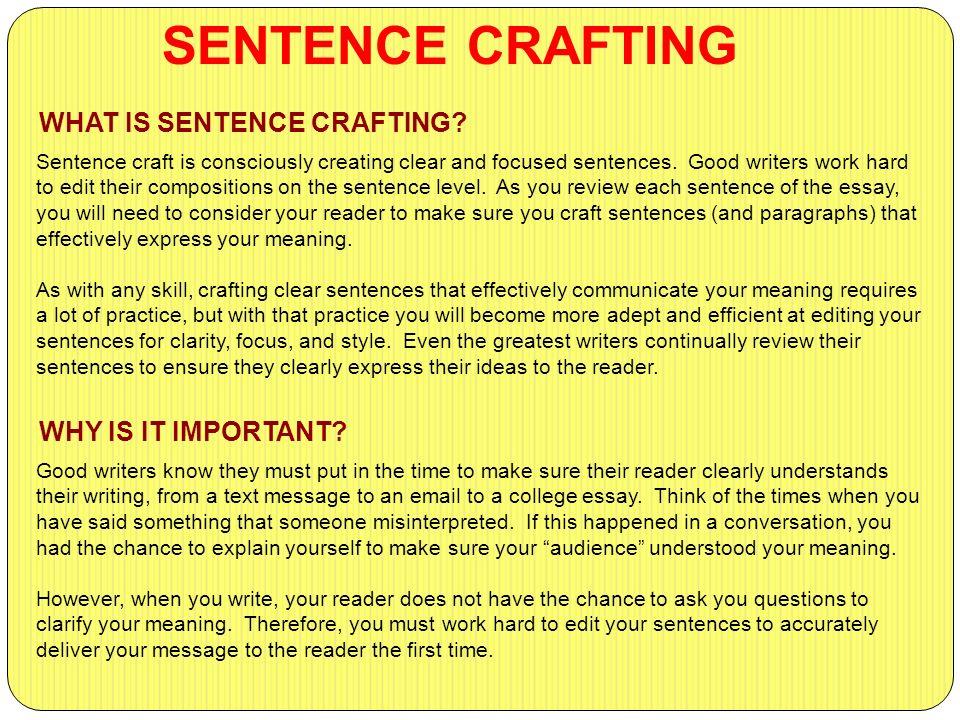 crafting good sentences for communication