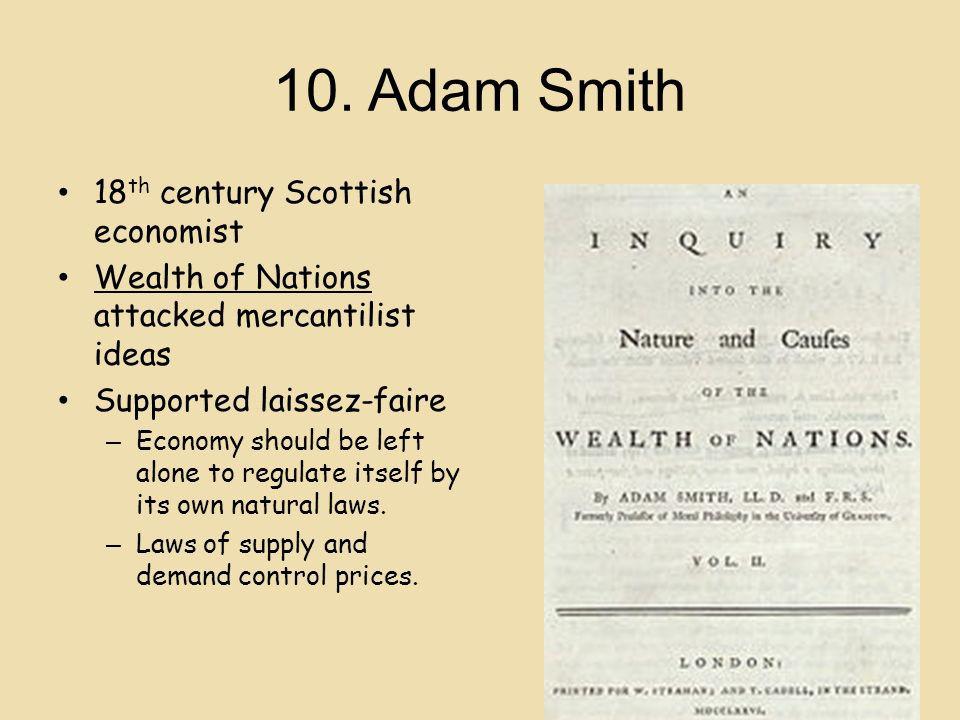 "a biography of adam smith a briliant 18th century scottish political economist When contemplating a cartoon explaining the political and economic philosophies of adam smith, the 18th century scottish scholar, one has to decide whether the cartoon or comic is intended to satirize smith's notion of an ""invisible hand"" guiding the conduct of relations between and among nations in light of the massive reputational hit."