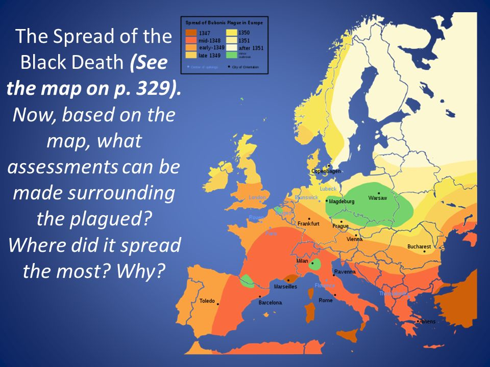 contributing factors on the spread of the black plague in europe