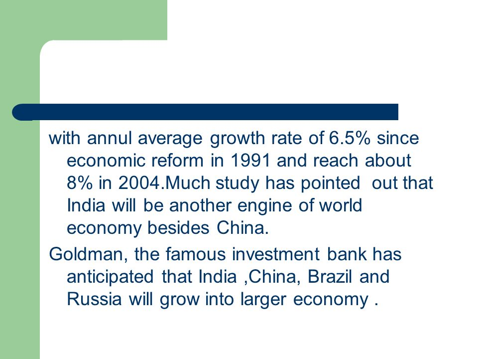 with annul average growth rate of 6