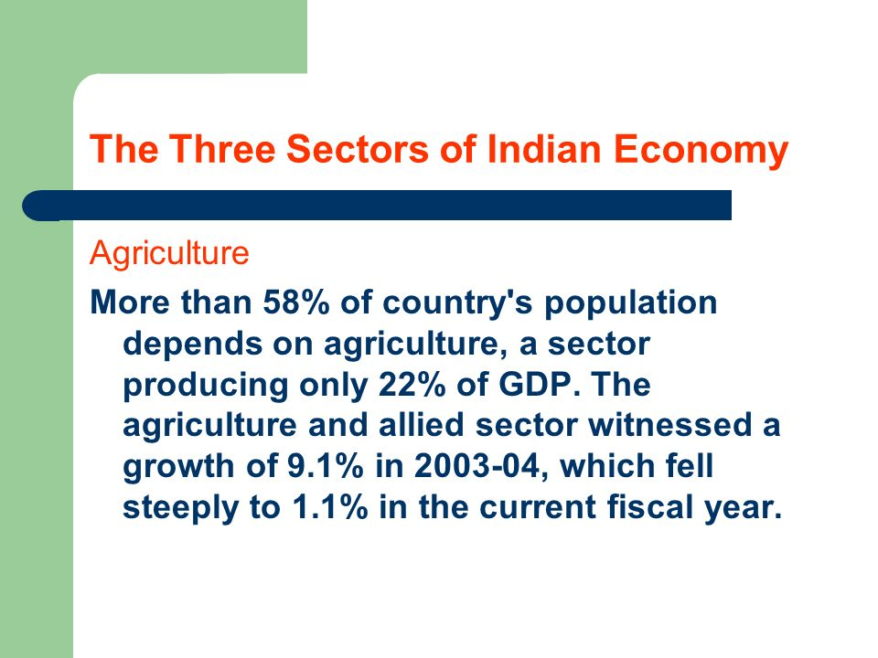 The Three Sectors of Indian Economy