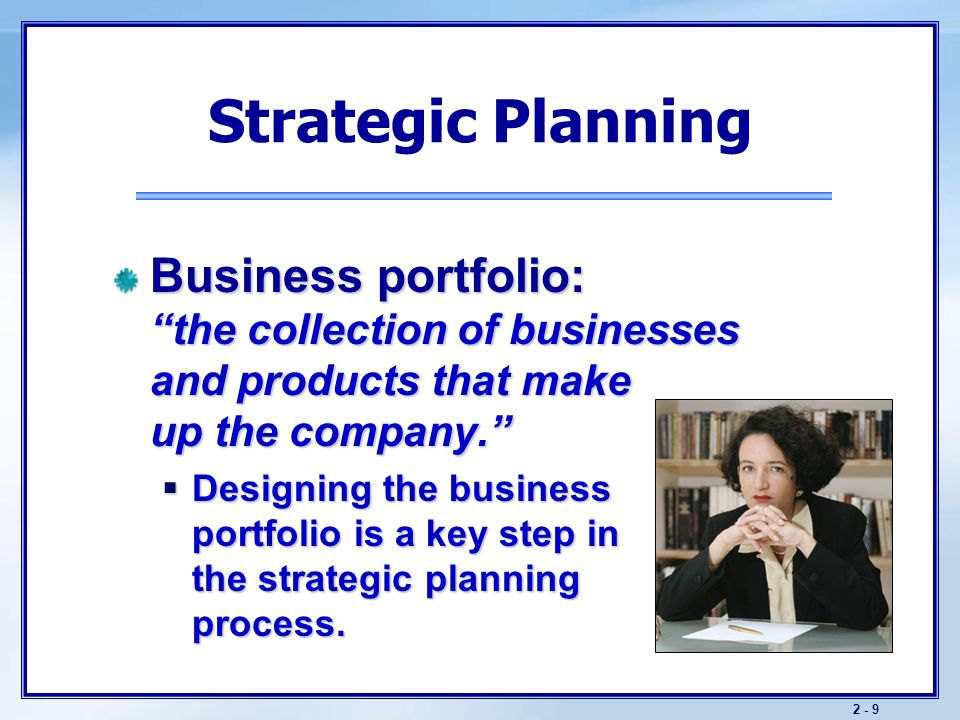 Objectives understand companywide strategic planning and for Strategic design company