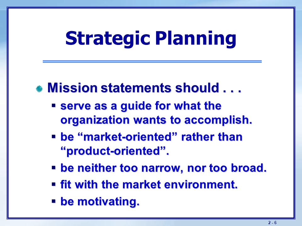 Objectives Understand Companywide Strategic Planning And Its Four Steps Learn How To Design