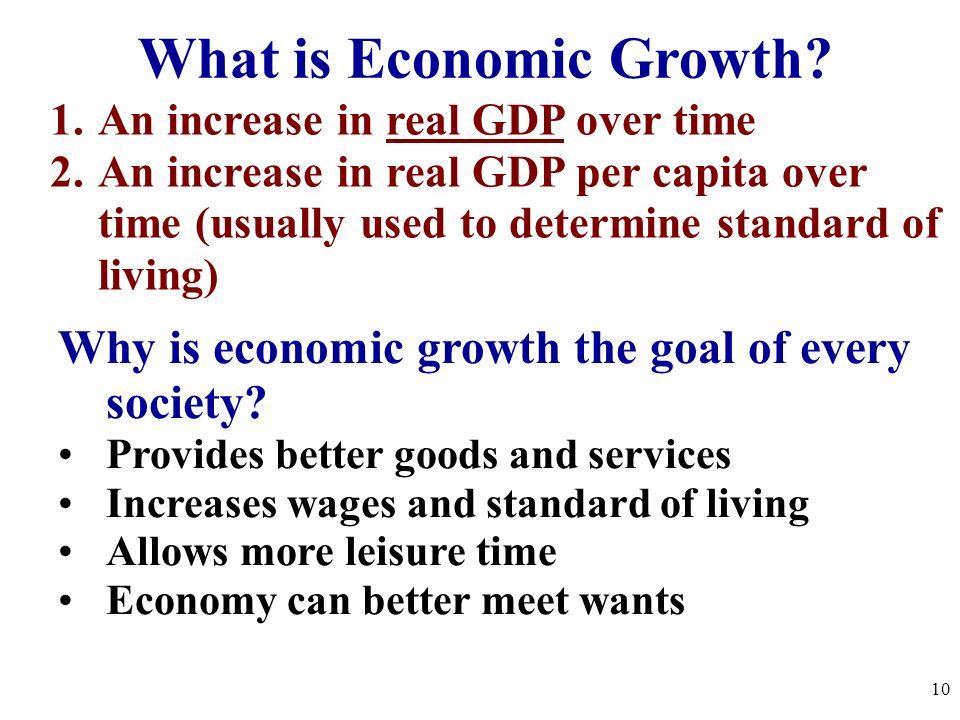 What determines economic growth
