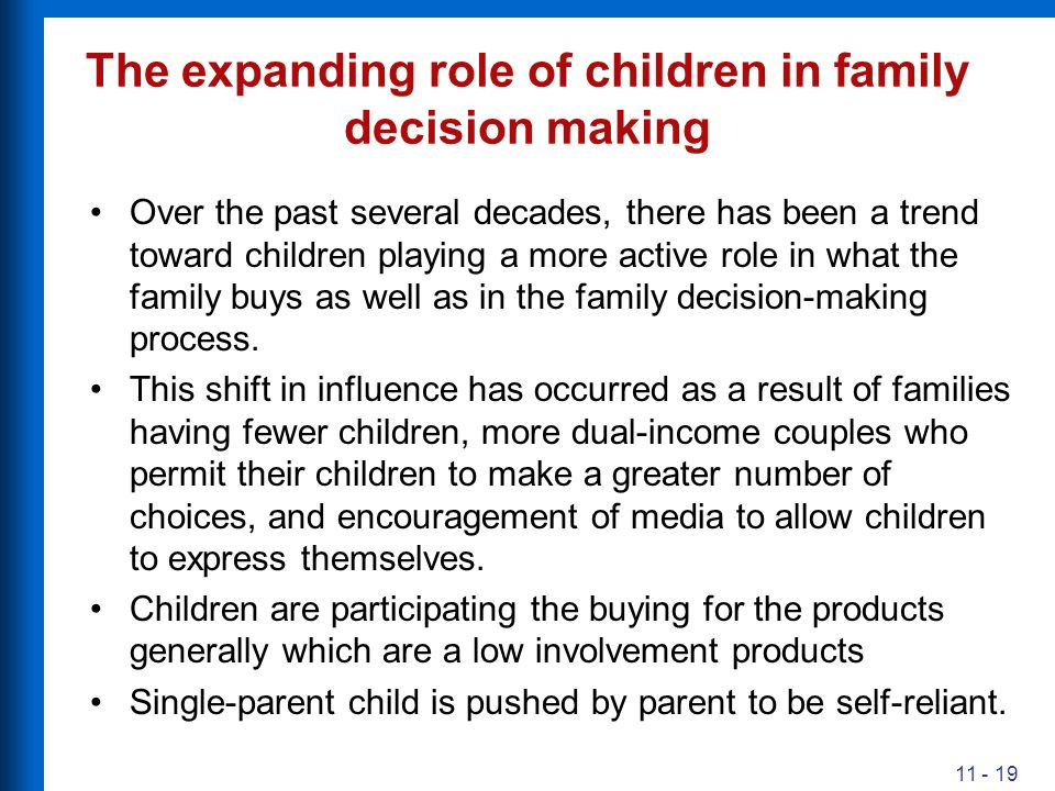 parents should make decisions for their To most parents, the question of whether the government should intervene to  dictate how a child should be raised is an easy one parents, not.