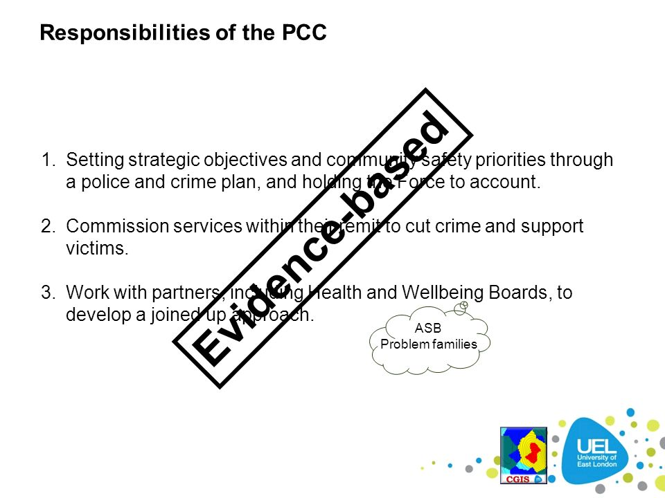 Evidence-based Responsibilities of the PCC
